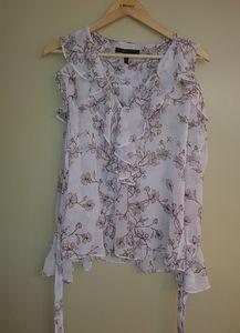 Sz S BCBG Maxazria floral blouse